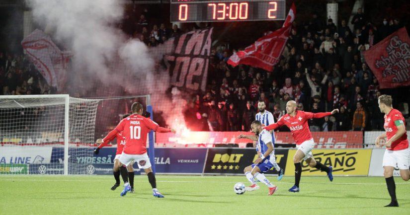 HIFK ja HJK Stadin derbyssä (Kuva: Matti Raivio / All Over Press)