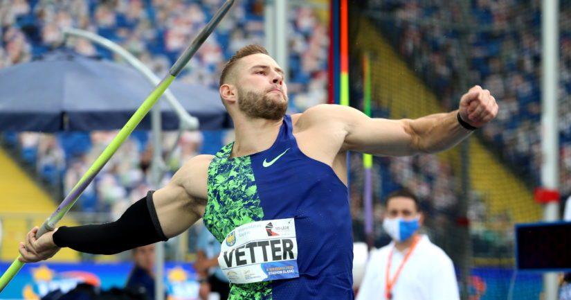 Johannes Vetter heitti keihästä 97,76