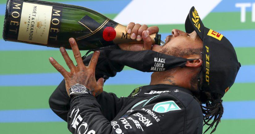 Lewis Hamilton on maistellut F1-palkintopallilla shampanjaa vuodesta 2007 lähtien