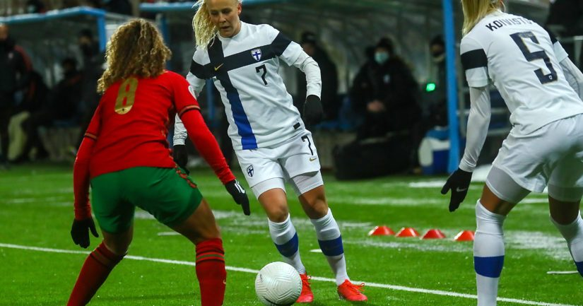 Suomen naisten jalkapallomaajoukkue pelaa EM-lopputurnauksessa 2022