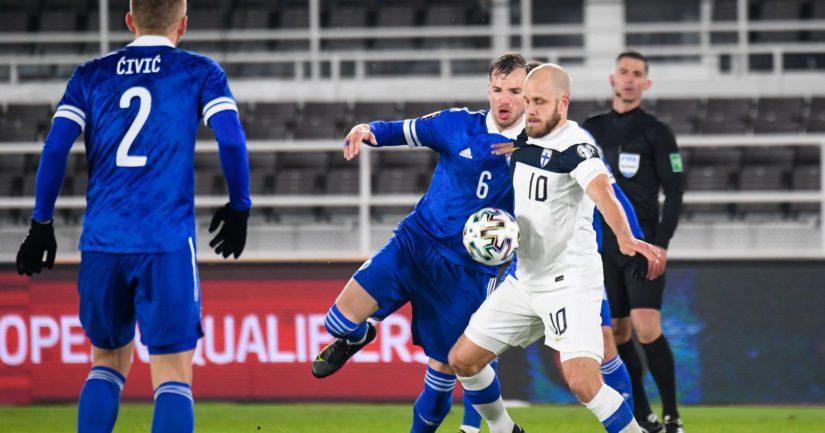 Teemu Pukki teki Bosnia-Hertsegovinaa vastaan kaksi maalia