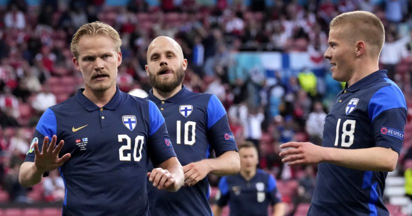Huuhkajat voitti EM-kisoissa Tanskan 1-0