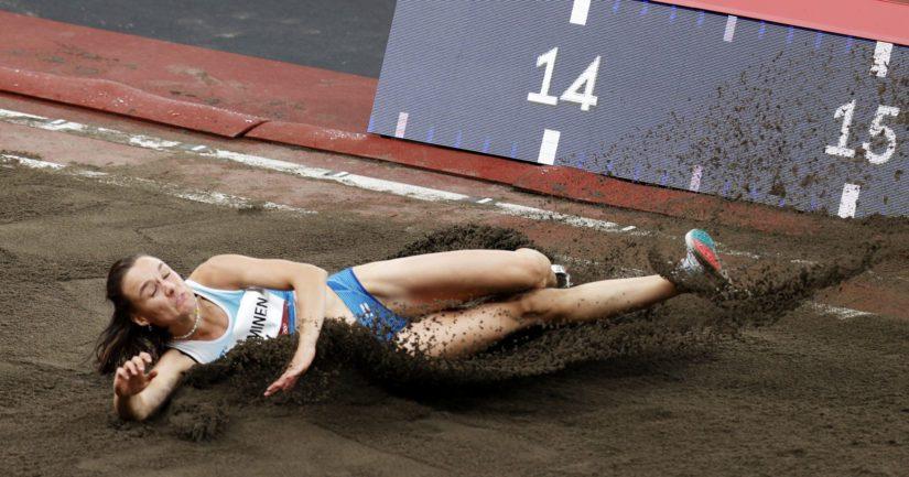 Senni Salminen karsiutui Tokion olympialaisten kolmiloikkafinaalista (Kuva AOP)