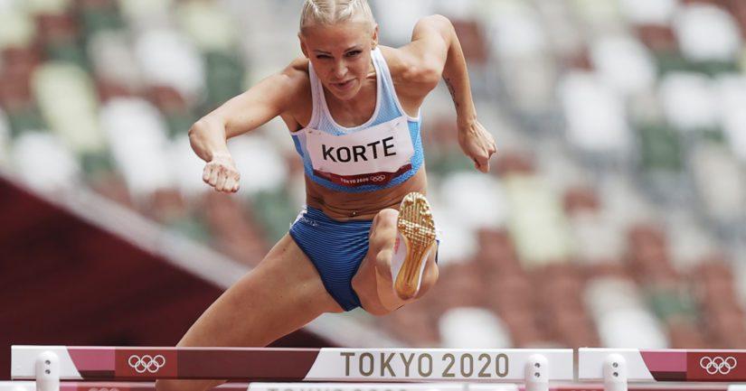 Annimari Korte kilpaili Tokion olympialaisissa takareisivammastaan huolimatta (Kuva AOP)