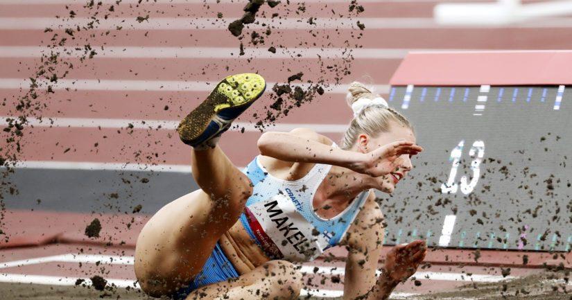 Kristiina Mäkelä on selviytynyt kahdesti peräkkäin kolmiloikan olympiafinaaliin (Kuva AOP)