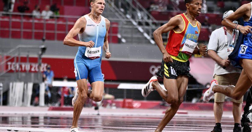 Topi Raitanen oli Tokion olympialaisten estefinaalissa paras eurooppalaisjuoksija oltuaan tuloksissa kahdeksas (Kuva AOP)