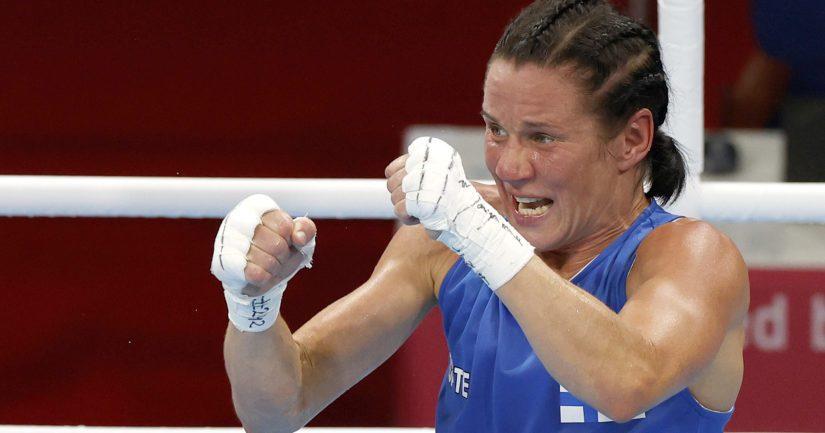 Mira Potkonen on nyrkkeillyt mitaleille kaksissa perättäisissä olympiakisoissa (Kuva AOP)