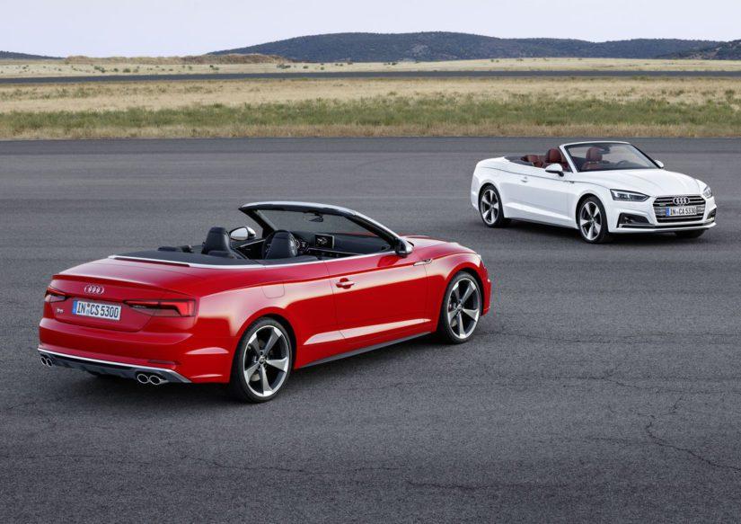 Uuden A5 Cabrioletin luvataankin olevan kevyempi kuin suurin osa kilpailijoista. (Kuva Audi)