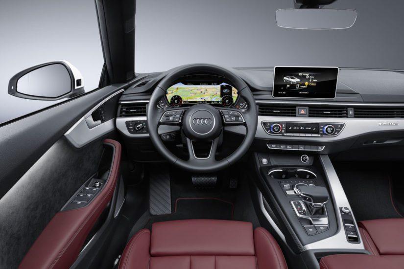 Cabrioletin katto laskeutuu vain 15 sekunnissa, ja sulkeminen vie kolme sekuntia pidempään. (Kuva Audi)