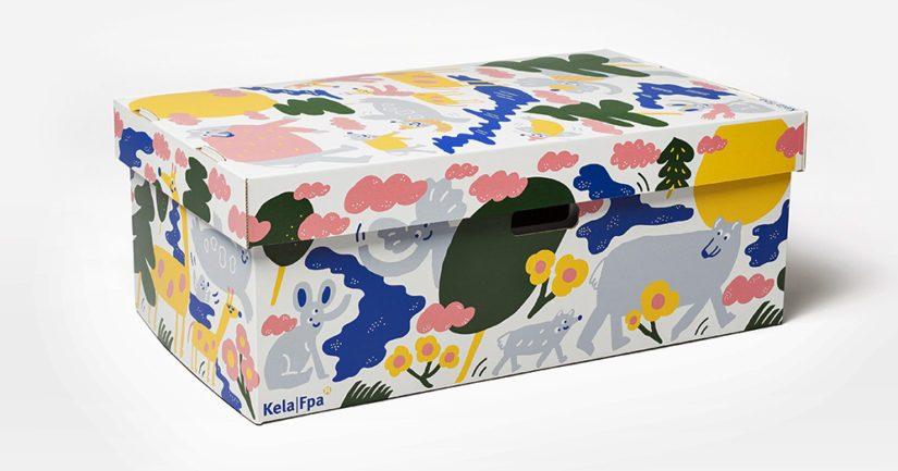 Monessa perheessä laatikko toimii vauvan ensisänkynä, ja myöhemmin siinä säilytetään vauvan vaatteita ja muuta tavaraa.