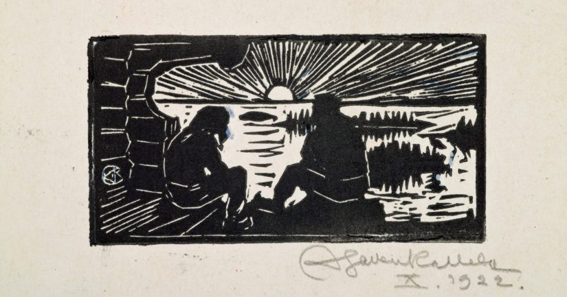 Akseli Gallen-Kallela: Koru-Kalevala, 1920-luku. Gallen-Kallelan Museo.