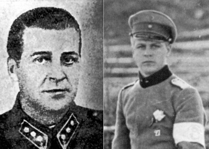 Albert Penttilä onnistui välttelemään kameraa, hänestä on tiettävästi vain vasemmalla oleva yksi kuva talvisodassa ja muutamia vapaussodasta.