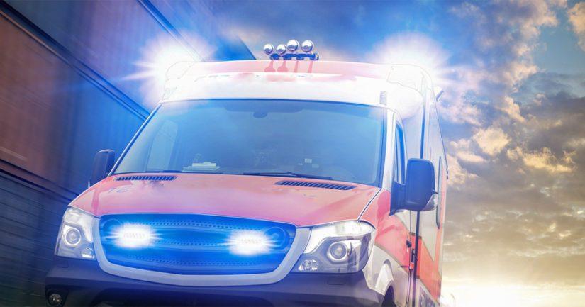 Ambulanssissa ei ollut potilaita tapahtumahetkellä.