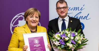 Suomen hallitukselta kansainvälinen tasa-arvopalkinto – ensimmäinen saaja Angela Merkel