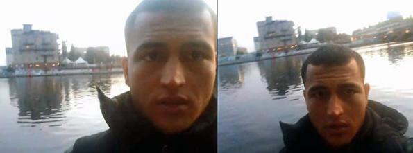 Seitsemän sekunnin video Anis Amrista löytyy sekä hänen omasta että veljensä profiilista.