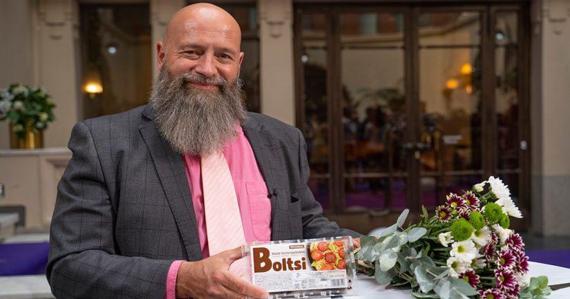 Leivon Leipomoa menestyksekkäästi edustaneet Anssi Räntilä ja Boltsi.