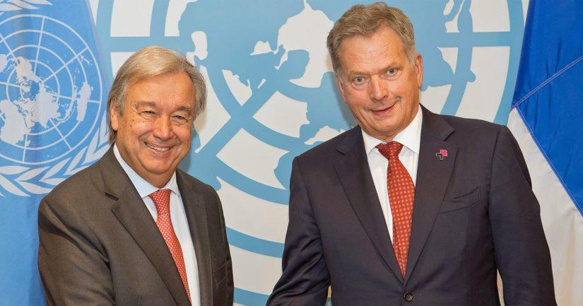 Sauli Niinistö tapasi viime syyskuussa António Guterresin YK:n uudistusta käsitelleessä kokouksessa New Yorkissa.