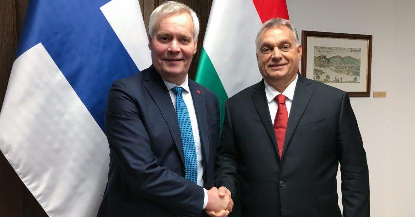 Pääministeri Antti Rinne keskusteli Unkarin pääministeri Viktor Orbánin kanssa.