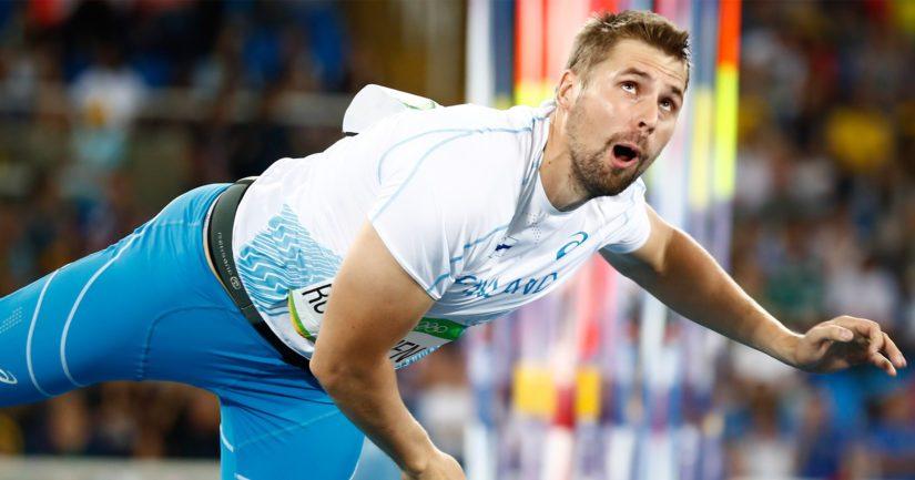 Antti Ruuskanen heitti keihäsfinaalissa 81,54, joka on hänen kesän toiseksi paras tuloksensa.