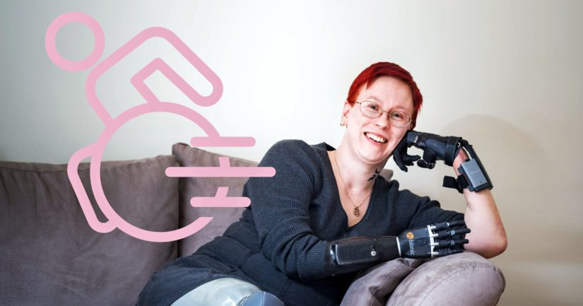 Arja Ahtaanluoma on perheellinen reilu nelikymppinen nainen, joka hoitovirheen seurauksena heräsi viiden viikon nukutuksesta neliraaja-amputoituna.