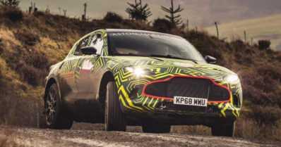 Aston Martinin ensimmäisen katumaasturin testaus aloitettiin – DBX tulee myyntiin vuonna 2020