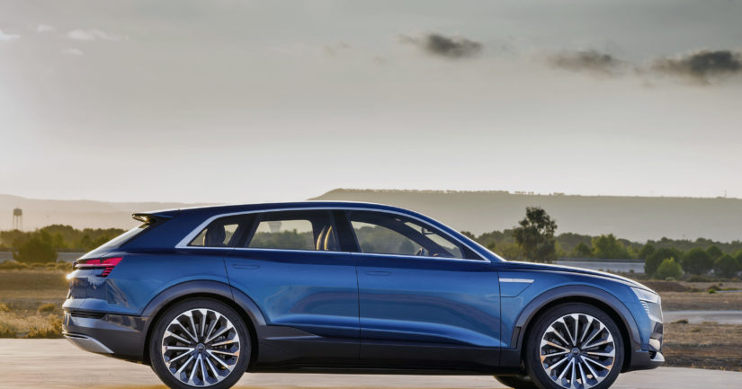 Audin uusi sähköauto on lyhyesti ja ytimekkäästi e-tron