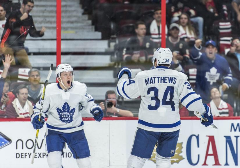 Auston Matthews on tehnyt vakuuttavan sisääntulon NHL:ään. (Kuva AOP)