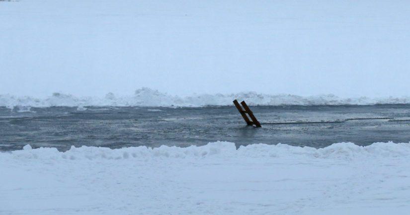 Alueella oli heikot jäät ja liikkuminen ei ollut turvallista ilman olosuhteiden vaatimia varusteita.
