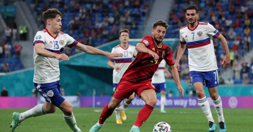 Venäjä hävisi EM-kisojen avausottelussaan Belgialle maalein 0-3 (Kuva Gonzalo Arroyo - UEFA)