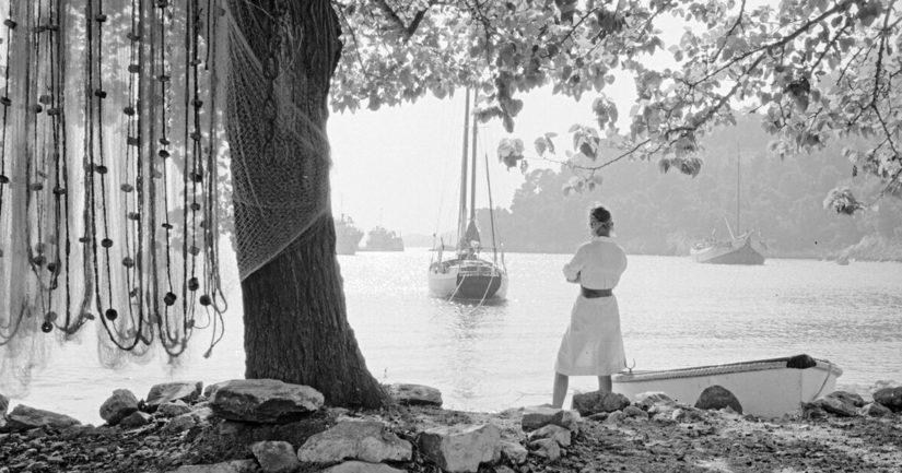 Christine Schildt Kreikan saarella Skopelosissa vuonna 1963.