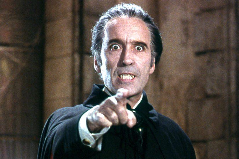 Lähes 70 vuotta näytellyt Christopher Lee aateloitiin vuonna 2009. (Kuva Dracula)