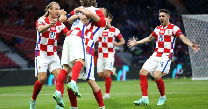 Kroatia voitti Skotlannin 3-1, mikä oli Huuhkajien kannalta huono tulos (Kuva Steve Bardens / UEFA)