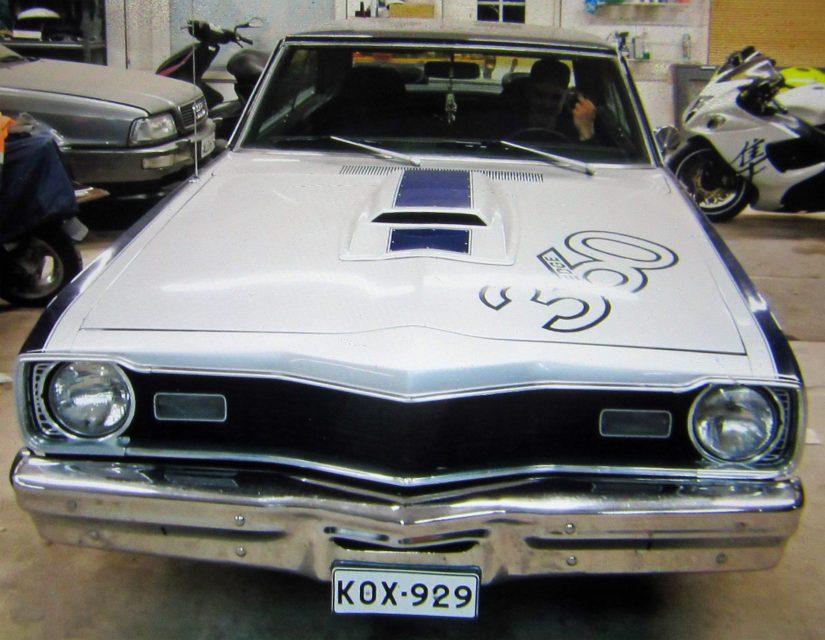 Varastettu auto Dodge Dart Swinger vuosimallia -73.