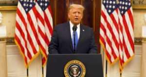"""Donald Trump piti jäähyväispuheensa – """"Tulin Washingtoniin ainoana todellisena ulkopuolisena"""""""