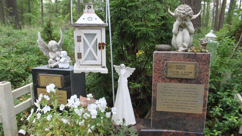 Lemmikin hautakiveen kaiverretut muistot kertovat tunteista ja surusta, joita on yleensä vaikea pukea sanoiksi.