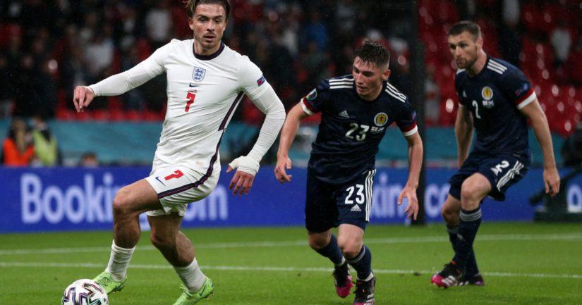 Englanti ja Skotlanti jäivät EM-kisoissa 2021 maalittomaan tasapeliin (Kuva Alex Morton / UEFA)