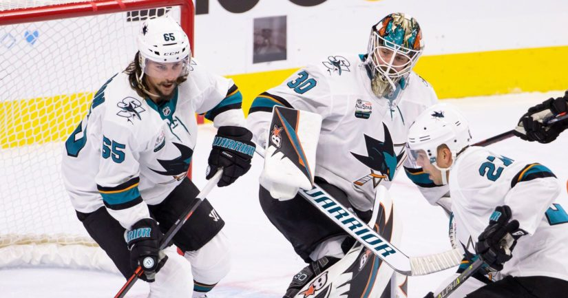 San Jose Sharksin Erik Karlssonilla, Aaron Dellillä sekä Joonas Donskoilla oli hyvä pelipäivä.