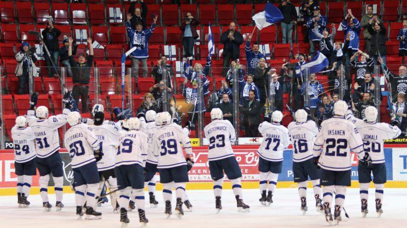 Espoo Unitedin miesten jääkiekkojoukkue sijoittui viime kaudella Mestiksessä kolmanneksi.