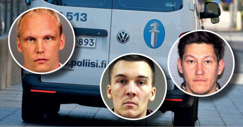 Rikoksesta epäiltyinä törkeään ryöstöön ovat Kimi Tervo, Jesse Muurainen sekä Pekka Räsänen.