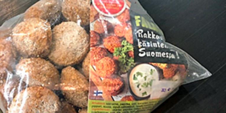 Elintarvikevalvonnan kohteessa ottama kuva tuotteesta.