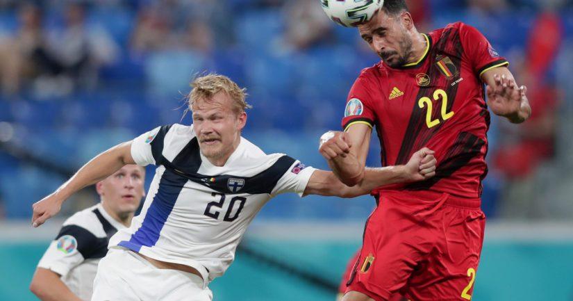 Belgia pehmitti EM-kisoissa Suomen maalein 2-0 (Kuva: Gonzalo Arroyo / UEFA)