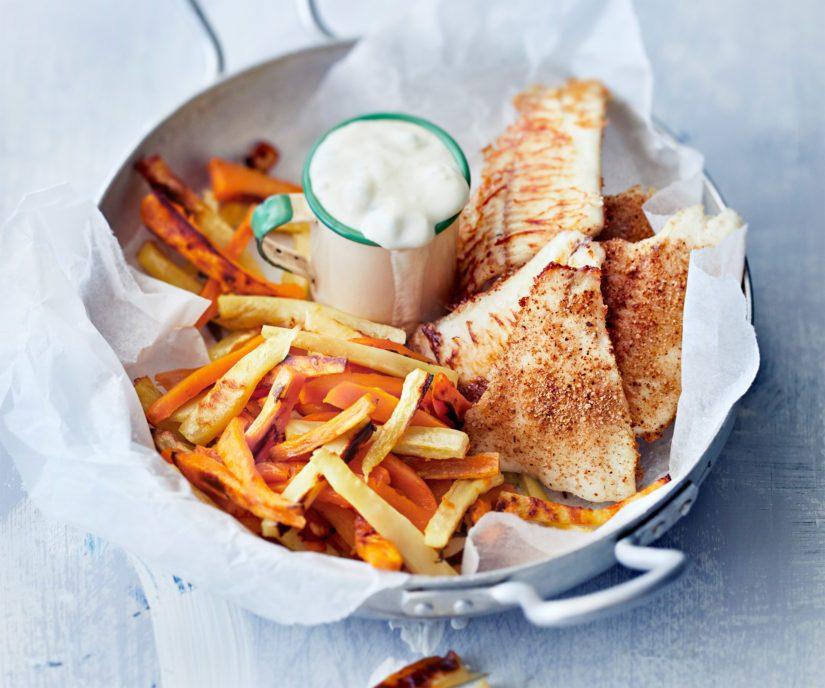 Tarjoile fish & chipsien kanssa tartarkastiketta ja purista kalafileiden päälle halutessasi sitruunanmehua.