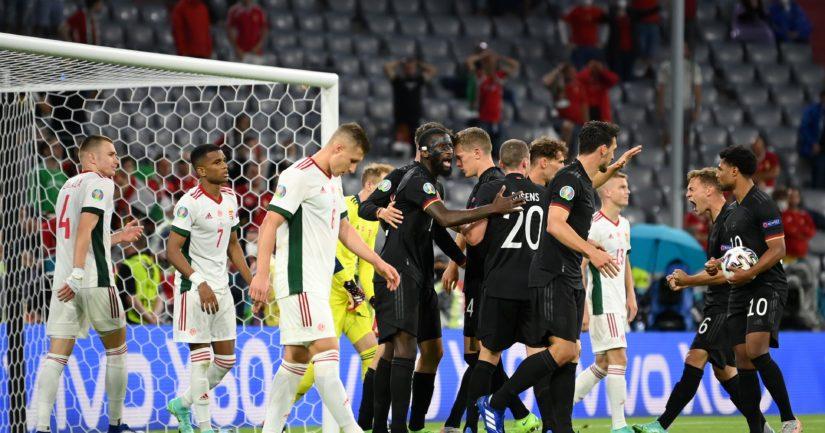 Saksa oli pulassa Unkaria vastaan, mutta meni jatkoon noustuaan 2-2 -tasapeliin (Kuva: Sebastian Widmann / UEFA)