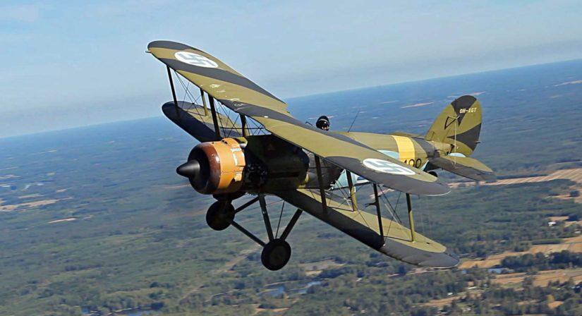 Gloster Gauntletin lennossa on historian siipien havinaa.