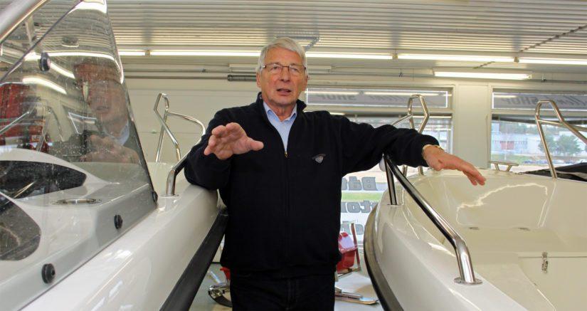 Talotehtailijana tunnettu Harry Backlund toimi muutaman vuoden ajan venealan yrittäjänä. – Varmistin kaupalla, että veneentekijät saavat pitää työpaikkansa.