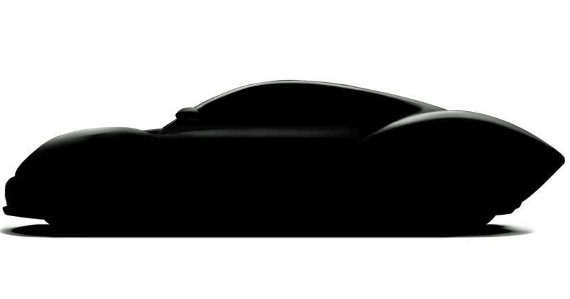 Tiiserikuva superautosta, joka on tarkoitus tuoda ensi kevään Geneven näyttelyn parrasvaloihin.