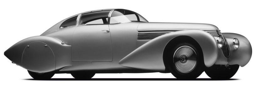 Automuotoilun art decoa edusti vuoden 1938 Hispano-Suiza Dubonnet Xenia.