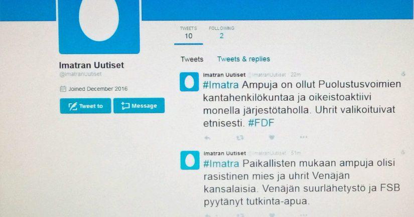 Valemedia trollaa Imatran ampumisia äärioikeiston venäläisvastaisuudeksi