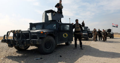 Suomalaiset sotilaat ovat Mosulin hyökkäysrintamalla