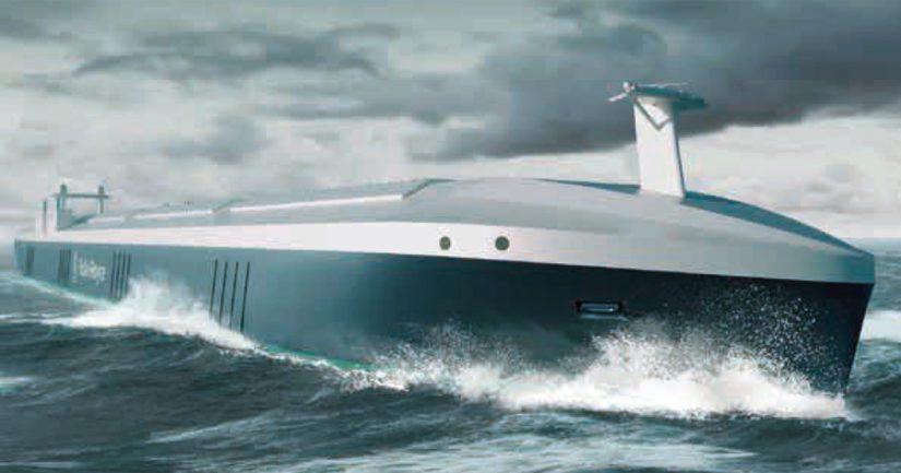 Rolls-Roycen visio tulevaisuuden itseohjautuvasta laivasta.